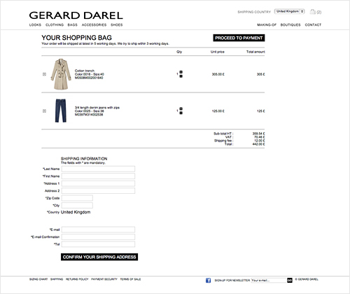 gerard darel e-boutique