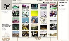 Page de tri des photographies par prix